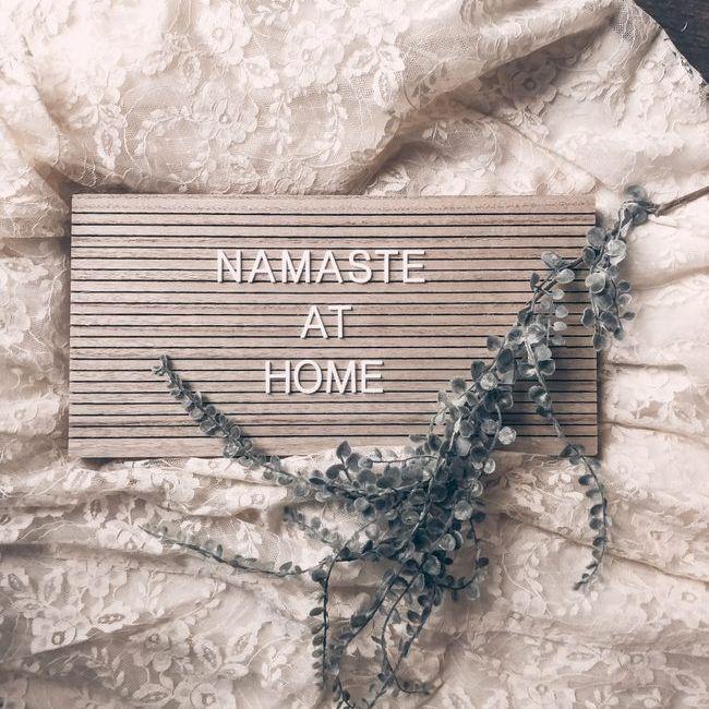 Namasta at Home sign