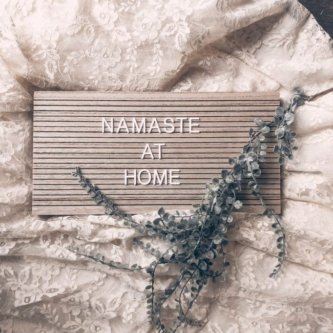 Namasta at Home sign