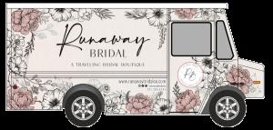 Drawing of Runaway Bridals Step van bridal truck